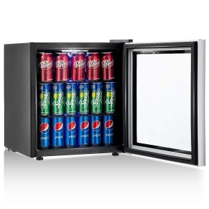 Costway 60 Can Beverage Refrigerator and Cooler Mini Fridge