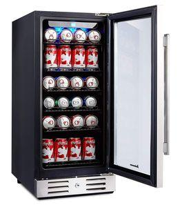 Kalamera Beverage Cooler with Blue Interior Lights