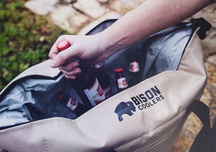 BISON COOLERS 24 Can Insulated Ice Chest Bag